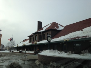 The old train station in downtown Fargo was very impressive.