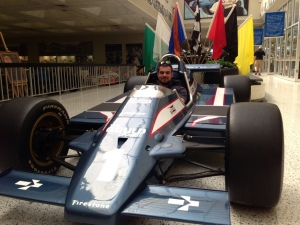 Yvertin tries on an Indy Car for size