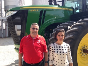 Don and June Patton got a ride and drive experience in a John Deere today.  It was a pleasure to have them visit us.