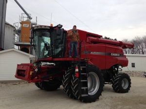 Brandon gives the 'thumbs up' on the new combine.  It'll be ready for its first harvest next June.    Be here before you know it...