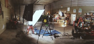 Our studio for the day