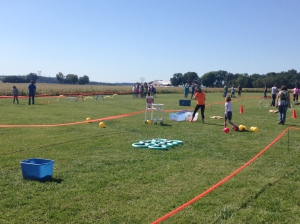 The obstacle course was a fun stop for the kids attending the Fall Festival at WCC.