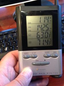 Rain gauge report this morning.