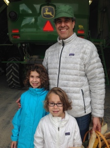 Raymond, Sofia, and Mila have come from Los Angeles to visit us on the farm.