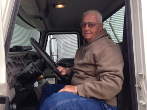 Bill Berry has been a great help with the trucks and the morning harvest prep.