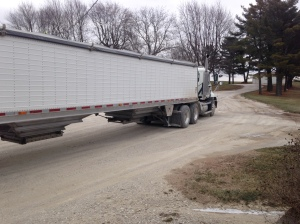The Vision is loaded with corn and is headed out to GPC