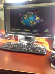 Next tool is the desktop computer with the JD Apex software installed.
