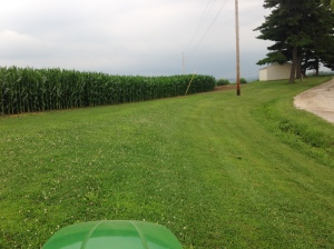 Gotta get that mowing done quick...rain's a-coming!