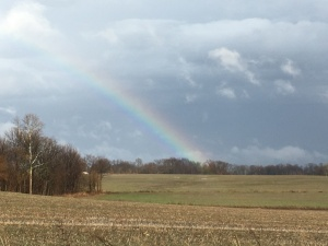 Rainbows and tornado warnings... all on the same, warm SWIN December day...