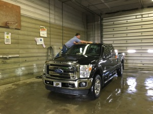 John is washing his pickup to day, to remove the salt and grime of the past several days.