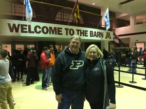 "What an impressive old place-- Williams Arena, aka ""The Barn"". And the weather was not the sub-zero stuff we expected, but 40ºF at game time!"