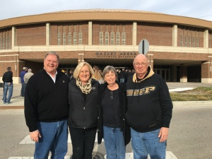 Pat and I are joined by Sheila and John for the Nebraska game at Mackey