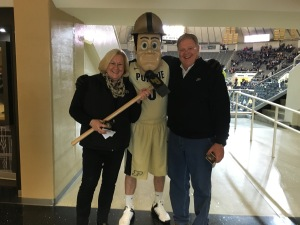 "We were greeted by ""Purdue Pete""!"