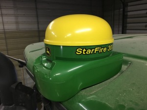 This is one of the StarFire 3000 receivers that got updated.  This device communicates between the GPS satellites and on-board the Greenstar system in each tractor, combine, or sprayer.