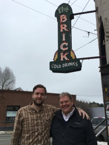 """Our Saturday travels took us to Roslyn, Washington, where an old favorite TV show, Northern Exposure, was filmed. We had our lunch at """"The Brick""""."""