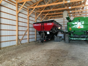 After the repair, the grain cart is placed back in its corner of the big barn...awaiting harvest time
