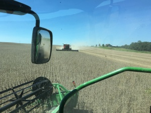 As we opened up that first field, the combines were working smoothly.