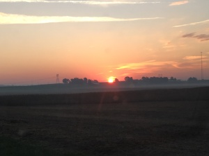 Sunrise over southern Knox County, Indiana...