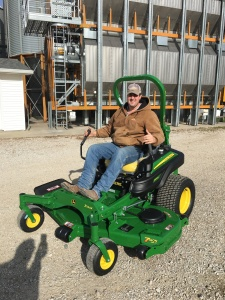 John likes the way this machine handles, and its 35hp makes it feel pretty strong.
