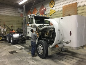 Once this is washed and polished, Brandon plans to use a different truck for winter deliveries of grain...so that this one can stay shiny.